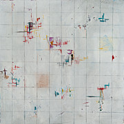 Maps Paintings - City Block by Jessica Breedlove Latham