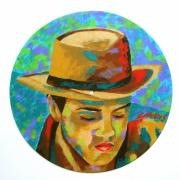 Elvis Presley Painting Originals - City Boy by Denise Landis