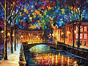 Afremov Art - City Bridge by Leonid Afremov