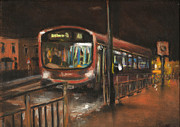 Bus Pastels - City Bus Night 1 by Paul Mitchell
