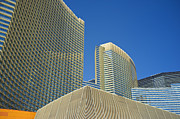 Vdara Prints - City Center Las Vegas Skyscrapers - Modern Architecture Print by Andre Babiak