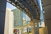 Vdara Prints - City Center Monorail Tram Las Vegas Print by Andre Babiak