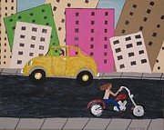 Asphalt Paintings - City Drive by Gregory Davis