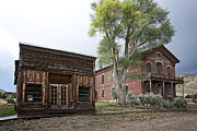Miners Ghost Prints - CITY DRUG STORE and HOTEL MEADE - BANNACK MONTANA GHOST TOWN Print by Daniel Hagerman