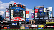 Baseball Fields Metal Prints - City Field Metal Print by Suhas Tavkar
