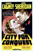 Lobbycard Photo Prints - City For Conquest, Ann Sheridan, James Print by Everett