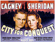 Films By Anatole Litvak Prints - City For Conquest, James Cagney, Ann Print by Everett