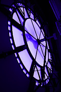 Hall Digital Art Prints - City Hall Clock Face Inside Print by Geoff Strehlow