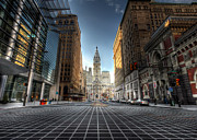City Streets Prints - City Hall Print by Lori Deiter