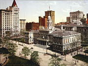 Photochrom Photos - City Hall, New York City, Photochrom by Everett