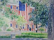 Alexandria Paintings - City Hall Old Town Alexandria Virginia by Tom Harris