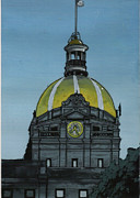 Dome Paintings - City Hall Savannah GA by Kris Sperring