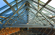 Hall Digital Art Prints - City Hall Skylight Print by Geoff Strehlow