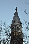 Hall Digital Art Posters - City Hall Tower Philadelphia Poster by Bill Cannon