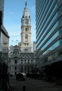 Philadelphia Photographs Framed Prints - City Hall View Framed Print by Arthur Cabrales