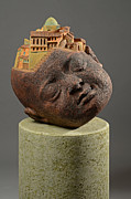 City Scape Sculptures - City Head by Clayton Thiel