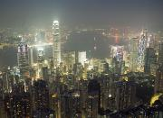 Peoples Republic Of China Photos - City Illuminated At Night, Hong Kong by Axiom Photographic