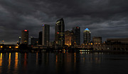 Stormy Night Prints - City in the Storm Print by David Lee Thompson