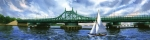 City Island Bridge Summer Print by Marguerite Chadwick-Juner