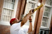 Saxophone Photos - City Jazz by Greg Fortier