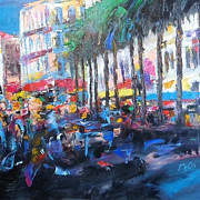 Montpellier Prints - City Life Print by K McCoy