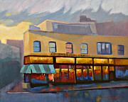 San Francisco Paintings - City Lights Bookstore by Suzanne Giuriati-Cerny