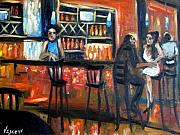 Bartender Paintings - City Limits by Valerie Vescovi