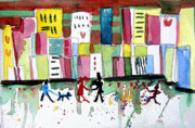 Shopping Drawings - City Love by Mindy Newman
