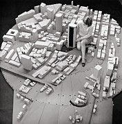 Urban Planning Posters - City Model Of Sydney, 1969 Poster by National Physical Laboratory (c) Crown Copyright