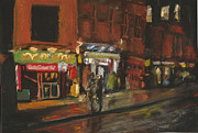 Soho Pastels Posters - City Night 4 Poster by Paul Mitchell