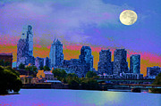Schuylkill Prints - City Nights Print by Bill Cannon