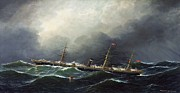 Berlin Paintings - City of Berlin on High Seas by Pg Reproductions