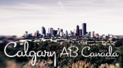 Lensbaby Photography Framed Prints - City of Calgary Alberta Canada Framed Print by Jayne Logan