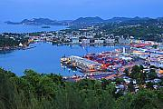 Island Light Photos - City of Castries-St Lucia by Chester Williams