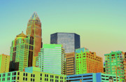 Charlotte Prints - City of Colors Print by Karol  Livote