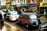 London Taxi Prints - City of Colors Print by Stefan Kuhn