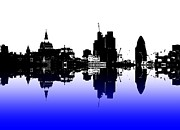 London Skyline Art - City of Culture by Sharon Lisa Clarke