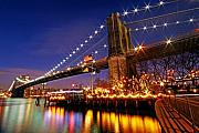 Brooklyn Bridge Prints - City of Dreamers Print by Mitch Cat