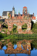 Travel Sightseeing Prints - City of Gdansk in Poland Print by Artur Bogacki