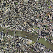 City Of Bridges Posters - City Of London, Aerial Image Poster by Getmapping Plc