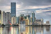 Urban Buildings Photo Prints - City of Miami Print by William Wetmore