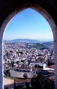 Homeland Posters - City of Nazareth from the Saint Gabriel Bell Tower Poster by Thomas R Fletcher