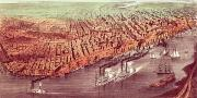 Charles River Paintings - City of New Orleans by Currier and Ives