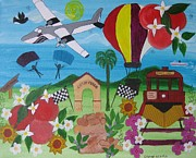 Plane Paintings - City of Perris by Cynthia Koch