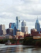 Philadelphia Photographs Prints - City of Philadelphia Print by Linda Sannuti