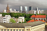 Residential Prints - City of Warsaw Skyline Print by Artur Bogacki