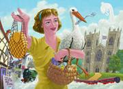 Stork Digital Art Posters - city of york UK Poster by Martin Davey