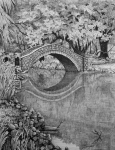 Bridge Drawings Originals - City Park New Orleans by Colleen Marquis