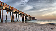Panama City Beach Framed Prints - City Pier Framed Print by Sandy Keeton