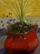 Verbena Paintings - City Planter by Marcia  Hero